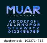 vector of stylish stylized font ... | Shutterstock .eps vector #1023714715