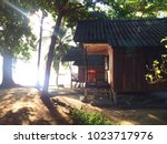 accommodation  small wooden... | Shutterstock . vector #1023717976