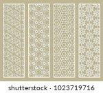 decorative geometric line... | Shutterstock .eps vector #1023719716