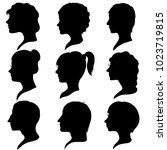 vector black silhouette... | Shutterstock .eps vector #1023719815