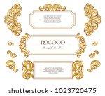 vector kit of vintage frame ... | Shutterstock .eps vector #1023720475