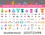monster creation constructor... | Shutterstock .eps vector #1023721498