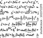 seamless with algebra symbols... | Shutterstock .eps vector #102372295