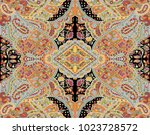 indian seamless paisley pattern | Shutterstock . vector #1023728572