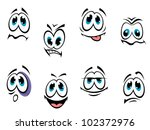 comics cartoon faces set with... | Shutterstock .eps vector #102372976