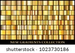 gold gradient set background... | Shutterstock .eps vector #1023730186