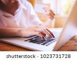 young asian entrepreneurs women ...   Shutterstock . vector #1023731728