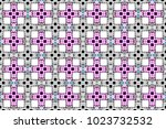colorful striped horizontal... | Shutterstock . vector #1023732532
