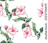 watercolor seamless pattern...   Shutterstock . vector #1023734695