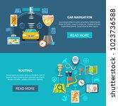 navigation horizontal banners... | Shutterstock .eps vector #1023736588