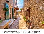 colorful mediterranean stone... | Shutterstock . vector #1023741895