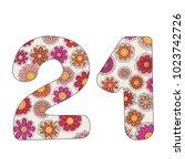 zen coloring book for adults...   Shutterstock .eps vector #1023742726