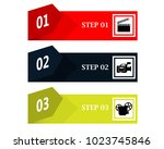 three banners of different... | Shutterstock .eps vector #1023745846