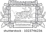 prehistoric dinosaur ... | Shutterstock .eps vector #1023746236