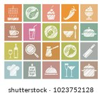 products and kitchen utensils.... | Shutterstock .eps vector #1023752128