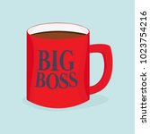 boss mug icon. vector image... | Shutterstock .eps vector #1023754216