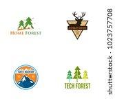 forest logo design | Shutterstock .eps vector #1023757708