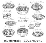 french cuisine. collection of... | Shutterstock .eps vector #1023757942