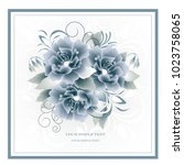 wedding card or invitation with ... | Shutterstock .eps vector #1023758065