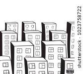 vector image. city landscape.... | Shutterstock .eps vector #1023758722
