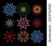 circular pattern  mandalas set. ... | Shutterstock .eps vector #1023766582