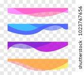 wavy design element. decor for... | Shutterstock .eps vector #1023767656