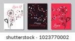 red black white dandelion... | Shutterstock .eps vector #1023770002
