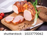 meat and sausages set of fresh... | Shutterstock . vector #1023770062