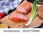 meat and sausages set of fresh... | Shutterstock . vector #1023770068