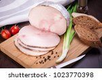 meat and sausages set of fresh... | Shutterstock . vector #1023770398