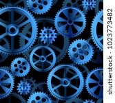 abstract mechanical background  ... | Shutterstock .eps vector #1023773482
