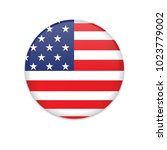 united states flag button... | Shutterstock .eps vector #1023779002