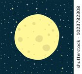 seamless pattern with full moon ... | Shutterstock .eps vector #1023782308