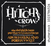 crow design idea font | Shutterstock .eps vector #1023786526