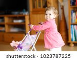Cute Adorable Baby Girl Making...