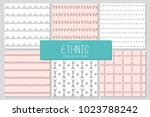 set of 6 abstract minimalistic... | Shutterstock .eps vector #1023788242