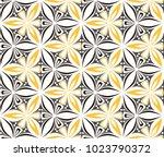 graphic flower arabesque... | Shutterstock .eps vector #1023790372