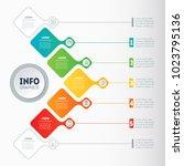 vector infographic of... | Shutterstock .eps vector #1023795136