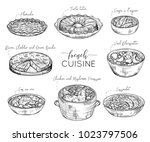 french cuisine. collection of... | Shutterstock .eps vector #1023797506