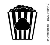 popcorn flat icon | Shutterstock .eps vector #1023798442