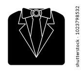 formal official  suit  icon | Shutterstock .eps vector #1023798532
