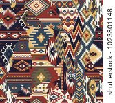 native american fabric... | Shutterstock .eps vector #1023801148