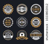 circle vintage and retro badge... | Shutterstock .eps vector #1023802012