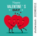 funny valentines card. couple...   Shutterstock .eps vector #1023803212