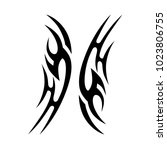 tattoo tribal vector design.... | Shutterstock .eps vector #1023806755