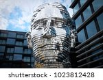 david cerny head sculpture of...   Shutterstock . vector #1023812428