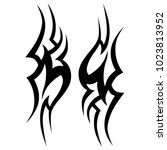 tattoo tribal vector design.... | Shutterstock .eps vector #1023813952
