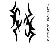 tattoo tribal vector design.... | Shutterstock .eps vector #1023813982