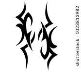 tattoo tribal vector design. | Shutterstock .eps vector #1023813982