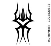 tattoo tribal vector design.... | Shutterstock .eps vector #1023820876